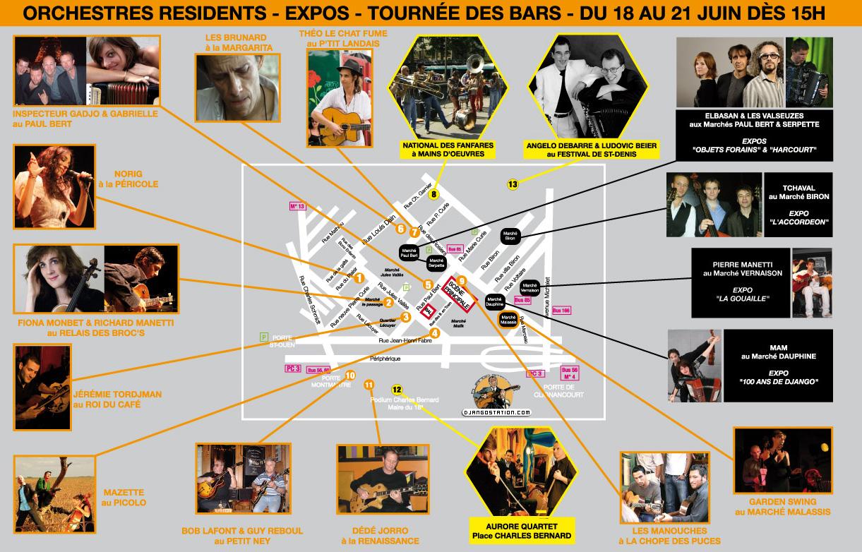 Django station festival jazz musette des puces 2010 - Plan puces saint ouen ...