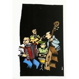 5 Cartes Postales Swing-musette - Jean-Claude Salemi