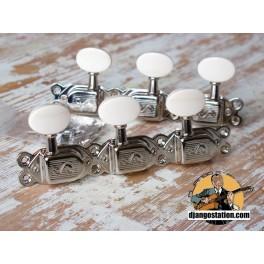 Mécanique Jazz Manouche SCHALLER nickel et bouton ivoirine