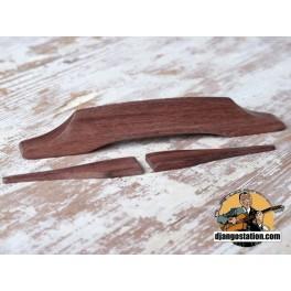 Chevalet type Selmer 126X18mm palissandre Rosewood avec moustache